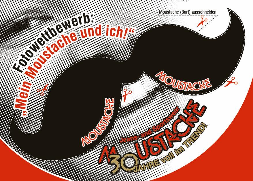 Karte Mein Moustache und ich